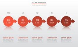Plantilla infographic del vector Foto de archivo