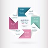 Plantilla infographic del vector Foto de archivo libre de regalías