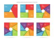 Plantilla infographic del vector fijada en estilo material Fotos de archivo libres de regalías