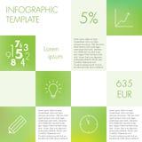 Plantilla infographic ligera Imágenes de archivo libres de regalías