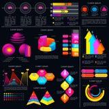 Plantilla infographic moderna con los gráficos de las estadísticas libre illustration