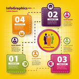 Plantilla infographic moderna para el negocio Fotos de archivo libres de regalías