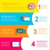 Plantilla infographic plana del negocio con los campos del texto Diseño del ejemplo del vector stock de ilustración