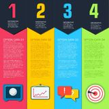 Plantilla infographic plana del negocio con los campos del texto Diseño del ejemplo del vector libre illustration