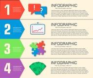 Plantilla infographic plana del negocio con los campos del texto Diseño del ejemplo del vector ilustración del vector