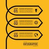 Plantilla infographic simple de la flecha stock de ilustración