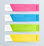 Plantilla inforgraphic moderna Puede ser utilizado para las banderas, plantillas del sitio web y los diseños, carteles infographi Fotografía de archivo libre de regalías