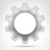 Plantilla interna del espacio del texto de la rueda de engranaje aislada Fotografía de archivo