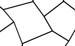 Plantilla irregular blanco y negro del mosaico Imagen de archivo