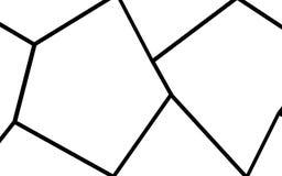 Plantilla irregular blanco y negro del mosaico Fotografía de archivo