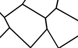 Plantilla irregular blanco y negro del mosaico Fotos de archivo