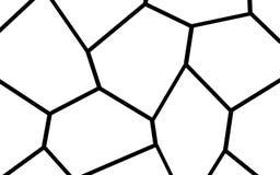 Plantilla irregular blanco y negro del mosaico Fotos de archivo libres de regalías