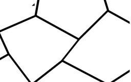 Plantilla irregular blanco y negro del mosaico Foto de archivo libre de regalías