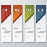 Plantilla limpia de las banderas del número del diseño Imagenes de archivo
