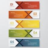 Plantilla limpia de las banderas del número del diseño Vector Imagen de archivo libre de regalías