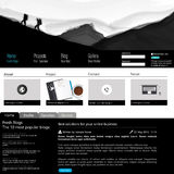 Plantilla limpia moderna del sitio web Imagen de archivo libre de regalías