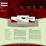 Plantilla limpia moderna del sitio web Imagen de archivo