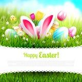 Plantilla linda de Pascua Fotos de archivo libres de regalías