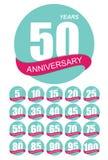 Plantilla Logo Anniversary Set Vector Illustration Imagen de archivo