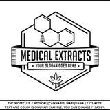 Plantilla médica del diseño del logotipo de los extractos stock de ilustración