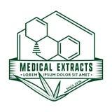 Plantilla médica del diseño del logotipo de los extractos Vector y ejemplo ilustración del vector