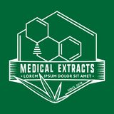 Plantilla médica del diseño del logotipo de los extractos Vector y ejemplo stock de ilustración