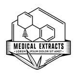 Plantilla médica del diseño del logotipo de los extractos Vector y ejemplo libre illustration
