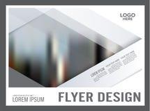 Plantilla mínima del diseño de la disposición del folleto anual stock de ilustración