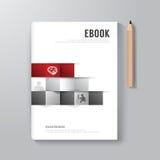 Plantilla mínima del estilo del diseño de Digitaces del libro de la cubierta Imagenes de archivo