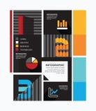 Plantilla mínima del gráfico de la información del estilo del diseño moderno. Foto de archivo libre de regalías