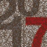 Plantilla manchada colorida mínima del diseño del fondo de la tarjeta del Año Nuevo del estilo retro abstracto por el año 2017 Imágenes de archivo libres de regalías