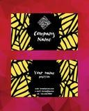 Plantilla moderna artística de la tarjeta de visita Template corporativo para las ilustraciones del asunto Fotografía de archivo