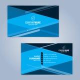 Plantilla moderna azul y negra de la tarjeta de visita Fotografía de archivo libre de regalías