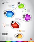 Plantilla moderna de Infografics Fotografía de archivo