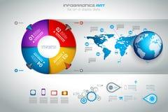 Plantilla moderna de Infografics Imagenes de archivo