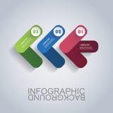 Plantilla moderna de Infographic del negocio - formas abstractas de la flecha Fotos de archivo