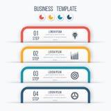Plantilla moderna de Infographics con 4 opciones stock de ilustración