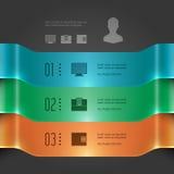 Plantilla moderna de Infographics del vector. diagrama de carta de las banderas 3D. Ejemplo del vector EPS10 Fotografía de archivo