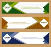 Plantilla moderna de la bandera, plantilla minimalista de la web de la bandera, diseño promocional de la bandera, fondos abstract ilustración del vector