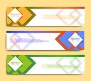 Plantilla moderna de la bandera, plantilla minimalista de la web de la bandera, diseño promocional de la bandera, fondos abstract stock de ilustración