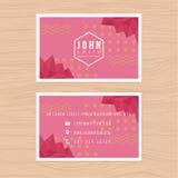 Plantilla moderna de la tarjeta de visita con el fondo bajo abstracto del polígono Impresión de la plantilla del diseño Imagenes de archivo