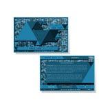 Plantilla moderna de la tarjeta de visita con el modelo de los triángulos Foto de archivo