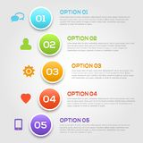 Plantilla moderna de las opciones del infographics. Imagen de archivo