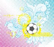 Plantilla moderna del balón de fútbol Imagen de archivo libre de regalías
