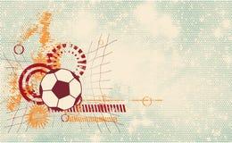 Plantilla moderna del balón de fútbol Imágenes de archivo libres de regalías
