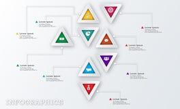 Plantilla moderna del diseño de Infographic del negocio del triángulo Imagen de archivo libre de regalías