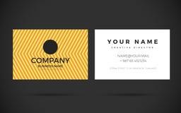 Plantilla moderna del diseño de la tarjeta de visita stock de ilustración