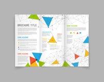 Plantilla moderna del diseño del folleto del doblez del vector tres Fotografía de archivo libre de regalías