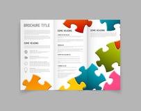 Plantilla moderna del diseño del folleto del doblez del vector tres Imagenes de archivo