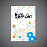 Plantilla moderna del diseño del informe anual del extracto del vector Imágenes de archivo libres de regalías